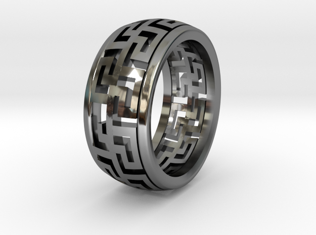 Labyrinthine  in Fine Detail Polished Silver
