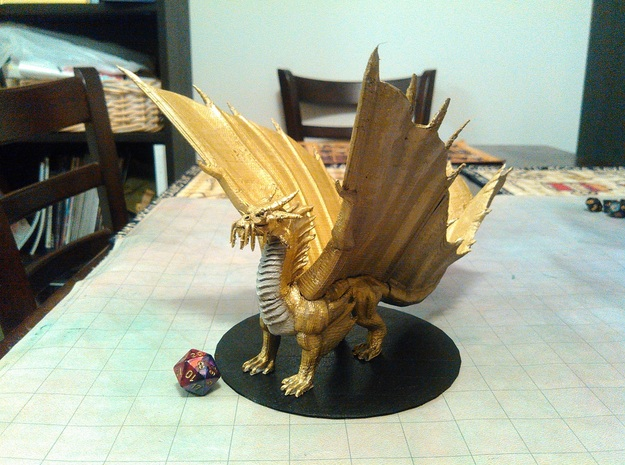 Adult Gold Dragon in Yellow Strong & Flexible Polished