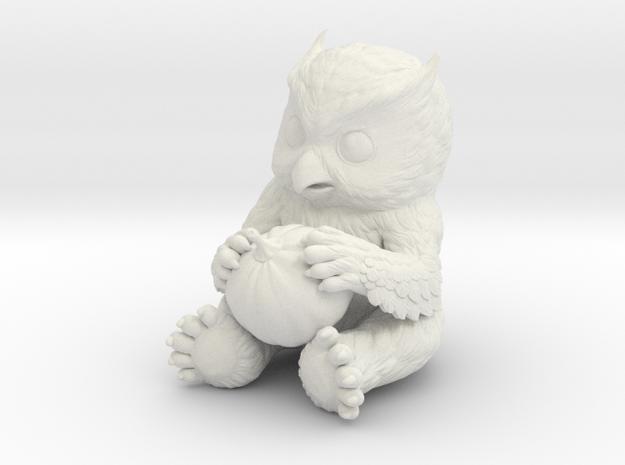 Owlbear Cub in White Natural Versatile Plastic: 15mm