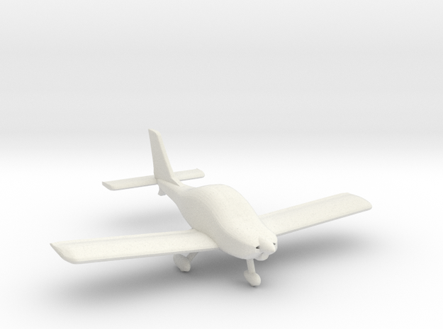 Texan Top Class Light Aircraft - N Scale in White Natural Versatile Plastic