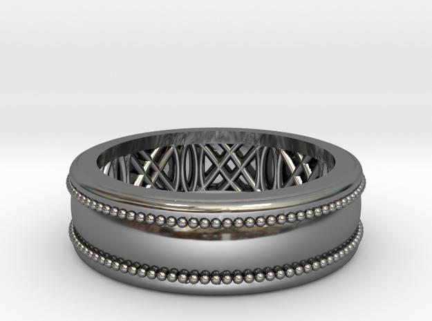 Enigma Geometrico in Fine Detail Polished Silver