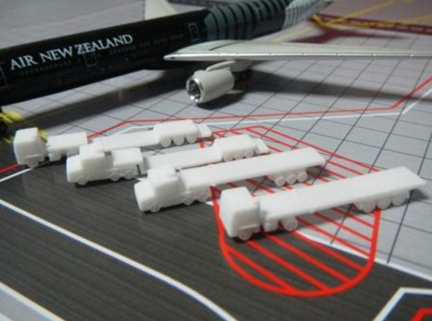 Airport GSE 1:400 Set 9 : Trailer Flat Truck in White Processed Versatile Plastic