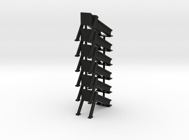 Bumper - modern -6 in Black Natural Versatile Plastic