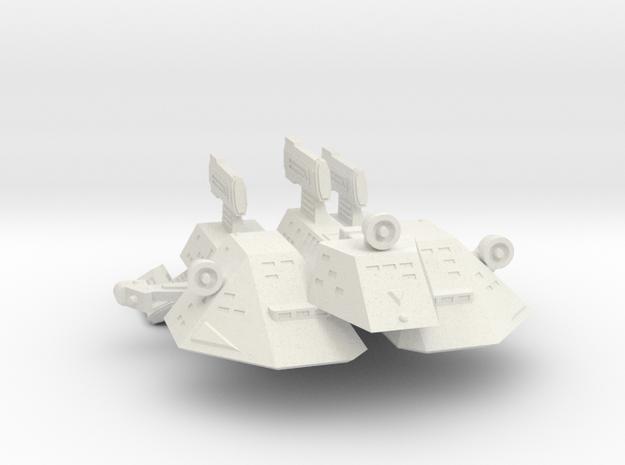 3788 Scale Kzinti Tri-Maran SRZ in White Natural Versatile Plastic