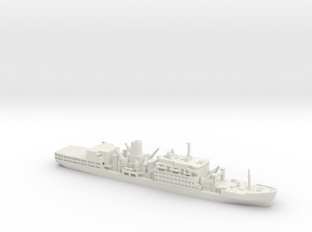 1/700 RFA Fort Class in White Natural Versatile Plastic