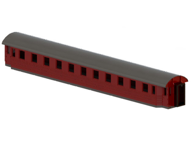 Co8cs - Swedish passenger wagon in Smooth Fine Detail Plastic