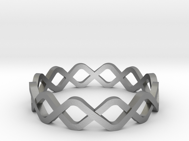 DNA Ring in Natural Silver: 10.25 / 62.125