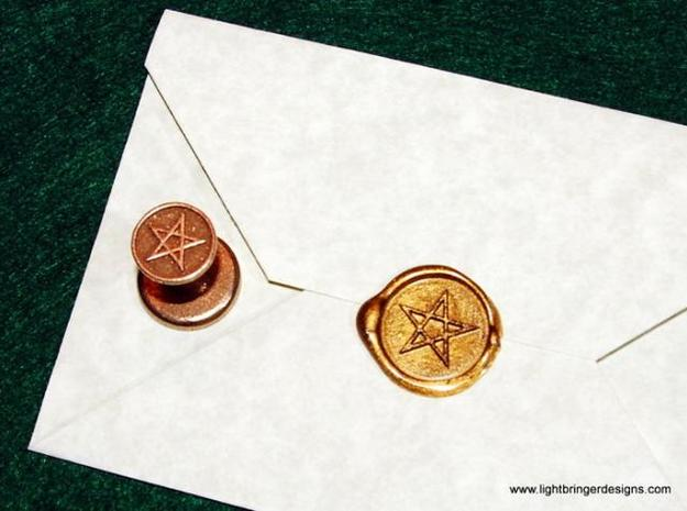 Pentagram Wax Seal in Stainless Steel