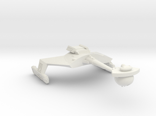 3125 Scale Romulan KRC Command Cruiser (Smooth) WE in White Strong & Flexible