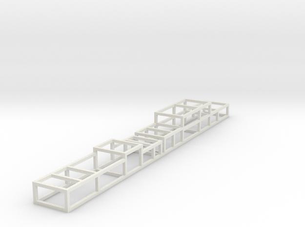 N scale Trainworx 40' flatbed tarped load frame 2  in White Natural Versatile Plastic