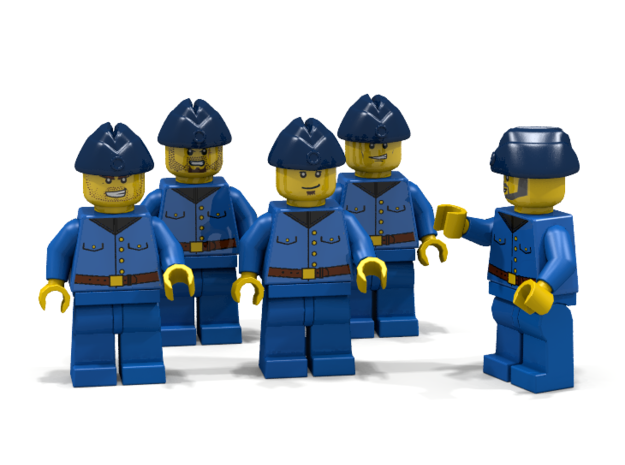5 x Oversea Cap 3d printed RAF Group (Render of an example Usage)