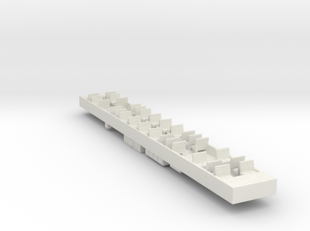 Siemens T Car Dummy Chassis in White Natural Versatile Plastic