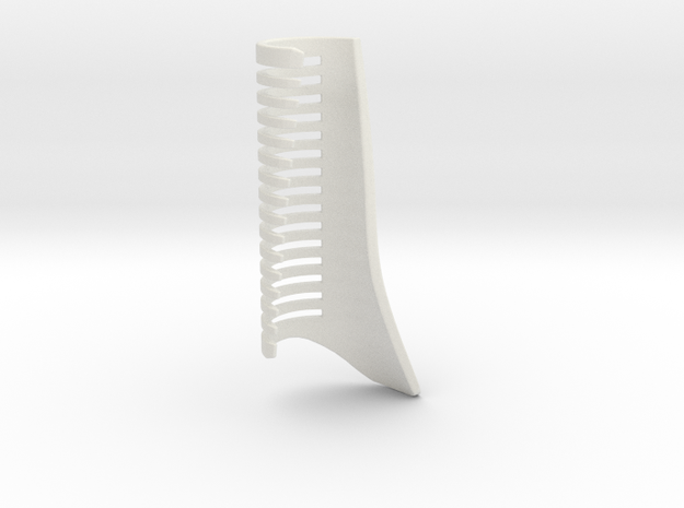 Unique Comb in White Natural Versatile Plastic