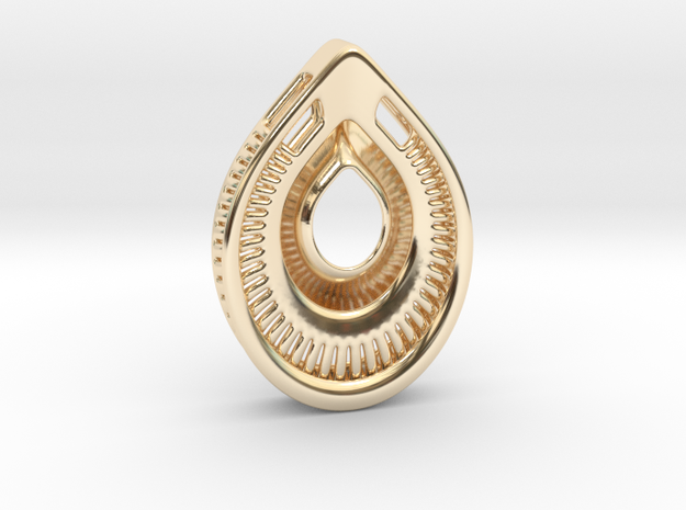 A drop. Pendant in 14k Gold Plated Brass