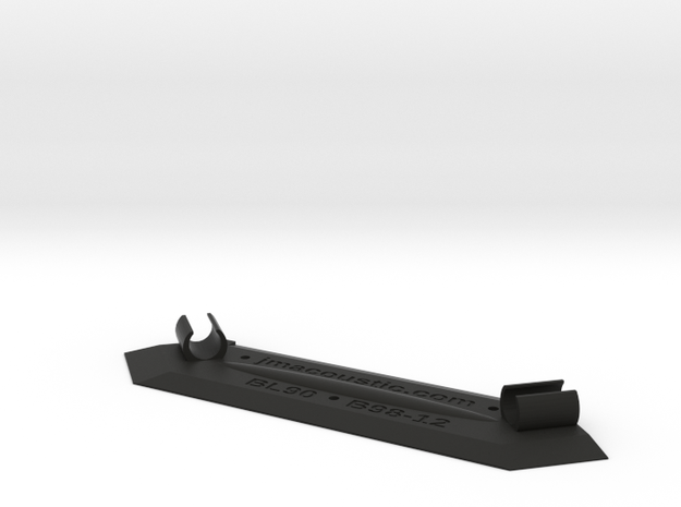 Stereo Boundary Mic Clip 12mm for Beta98 in Black Natural Versatile Plastic