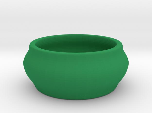 Birdbath for the toy birds in Green Processed Versatile Plastic