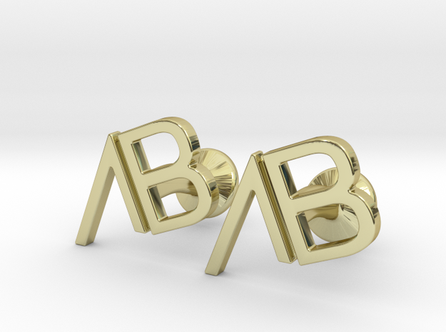 Custom Logo Cufflinks in 18k Gold Plated