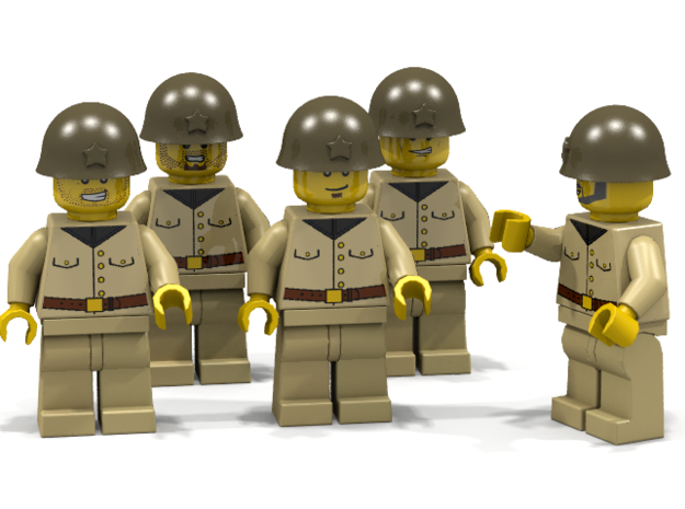 5 x Japanese Army 3d printed Japanese unit (Render of an example Usage)