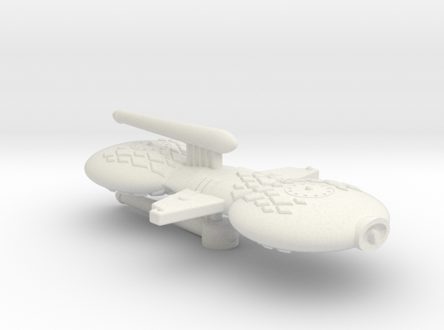 3788 Scale Gorn Compsognathus-B+ Battle FrigateSR in White Strong & Flexible