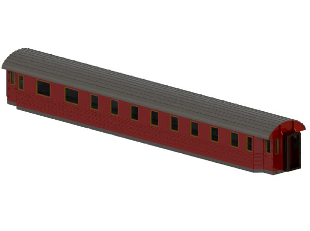 BCo11b - Swedish passenger wagon in Smooth Fine Detail Plastic