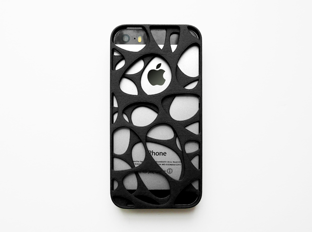 iPhone SE/5S Case_Voronoi in Black Natural Versatile Plastic