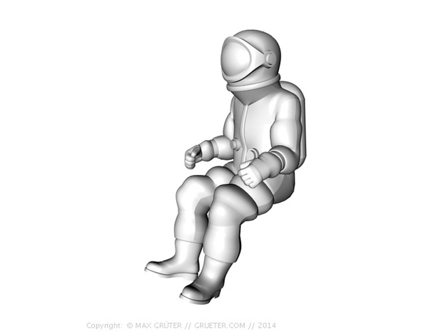 Generic Astronauts Set / 1:72 3d printed Spacecraft seat position