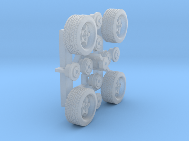 Felgen Borbet T 8x14 mit Reifen 195/45R14 (1:87)