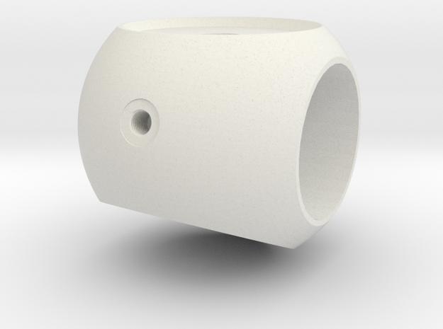 Brosche an 70142+70190-18mm in White Natural Versatile Plastic