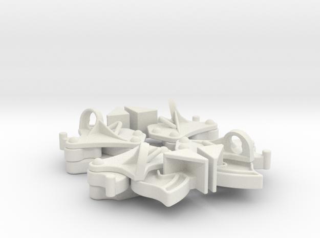 Hopper pocket latches (4) in White Natural Versatile Plastic