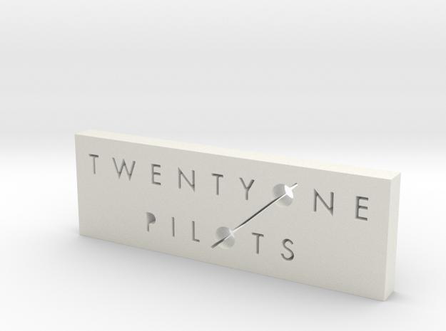 twenty øne piløts Logo in White Natural Versatile Plastic