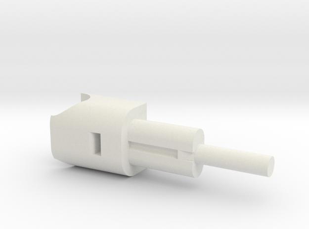 Phantom 4 Rear Spring Brace  in White Natural Versatile Plastic