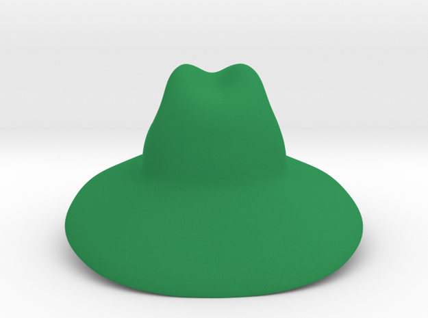 Sun Hat in Green Processed Versatile Plastic: Large