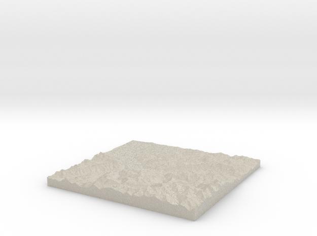 Model of Unterseen, Schiessstand Lehn in Natural Sandstone