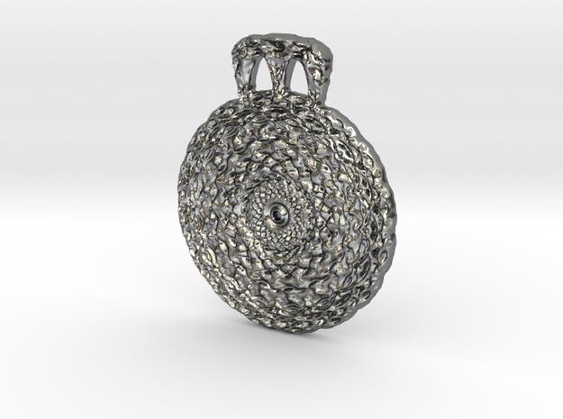 Vortex Pendant in Polished Silver