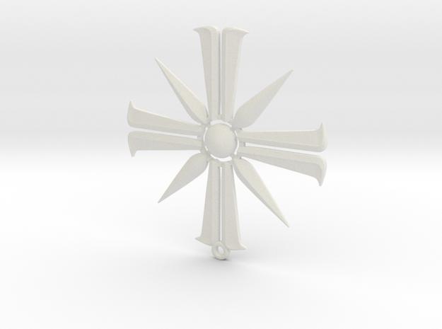 Far Cry 5 Eden's Gate pendant in White Natural Versatile Plastic