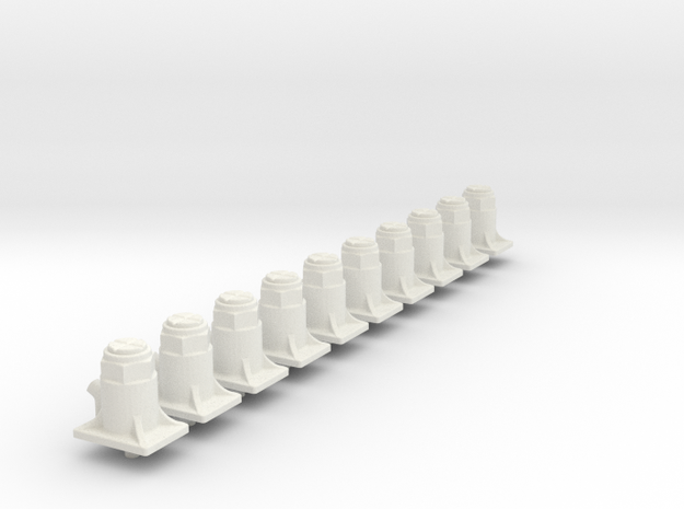10X Bottle jacks  in White Natural Versatile Plastic