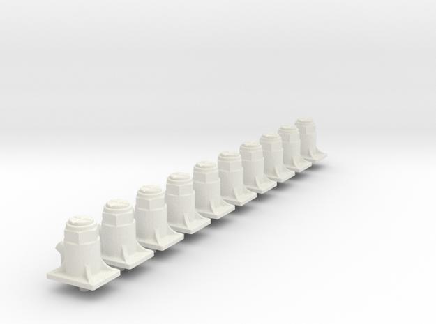 10X Bottle jacks  in White Natural Versatile Plastic