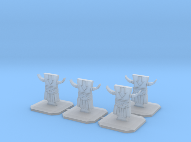 Evil Dwarf Topper / Token / Objective / Marker - 2 in Smooth Fine Detail Plastic