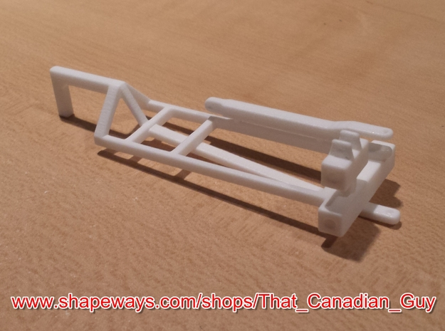 1/64 (S) Scale 3000gal NH3 Tank Cart Kit in White Processed Versatile Plastic