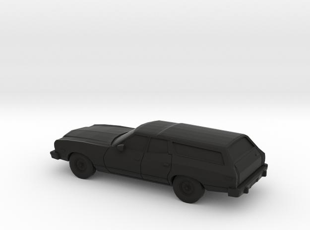 1/87 1974-76 Ford Torino Station Station Wagon in Black Natural Versatile Plastic