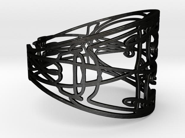 Personalised Mirrored Name Bracelet (002) in Matte Black Steel
