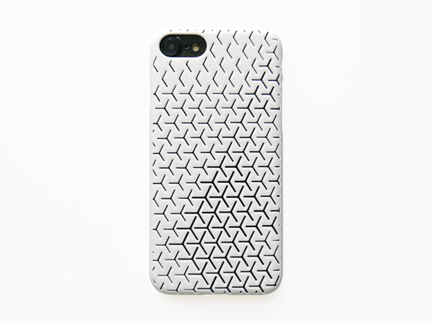 iPhone 7 Case_Geometric in White Strong & Flexible Polished
