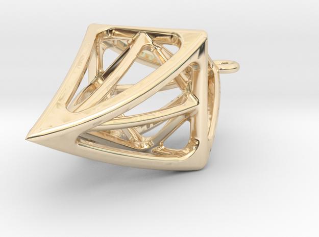 DIAMOND Earings  in 14k Gold Plated Brass