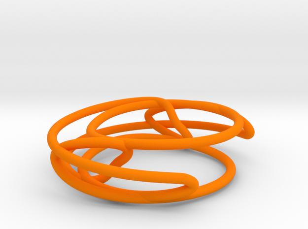 Prime Knot 8_15 in Orange Processed Versatile Plastic