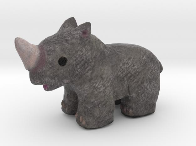 Rhino Wildlife Figurine in Full Color Sandstone