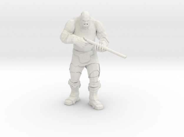 Mutant with Wasteland Pipe Rifle in White Natural Versatile Plastic
