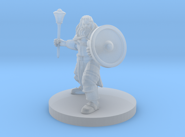 Cleric of Battle with Mace in Smooth Fine Detail Plastic