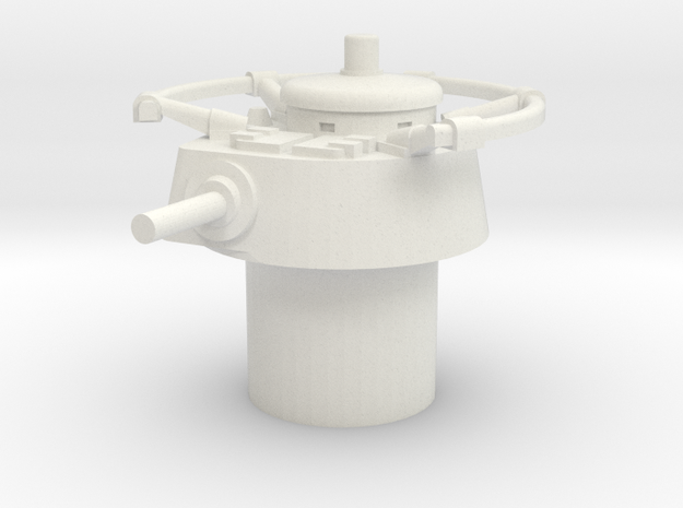 Japanese WWII Shi ki-turret 15mm / 1/100 Scale in White Natural Versatile Plastic