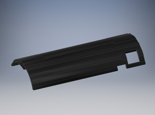 Tusken Slayer Chassis - Board Cover old CF in Black Natural Versatile Plastic