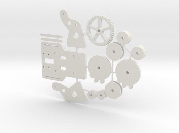 Ankerlier Printonderdelen SWB in White Natural Versatile Plastic